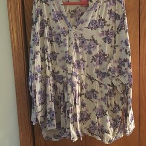 EUC Woman Within 3x blouse
